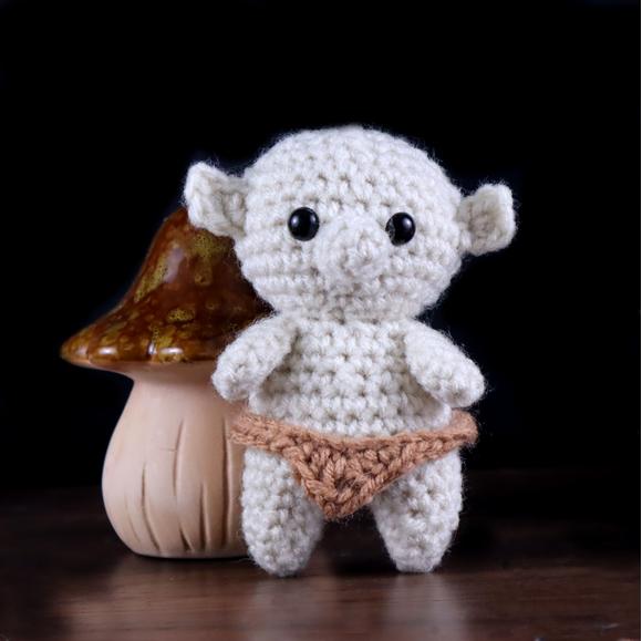 Tiny troll free amigurumi crochet pattern