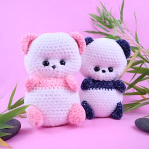 Free panda amigurumi crochet pattern