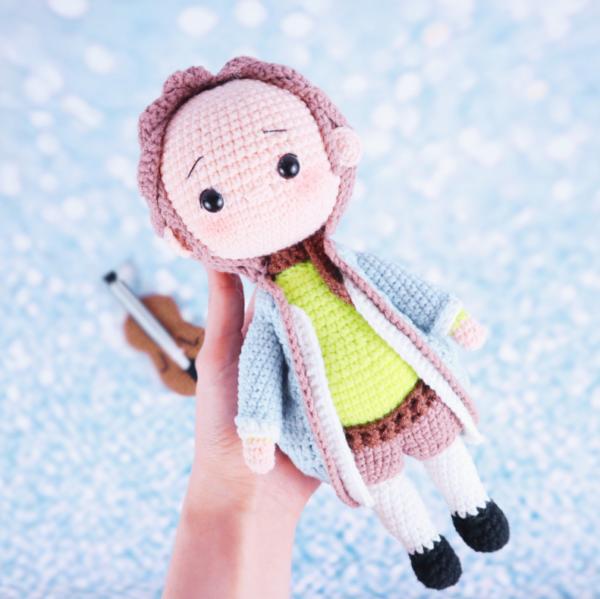 Bach musical composer amigurumi crochet pattern doll free