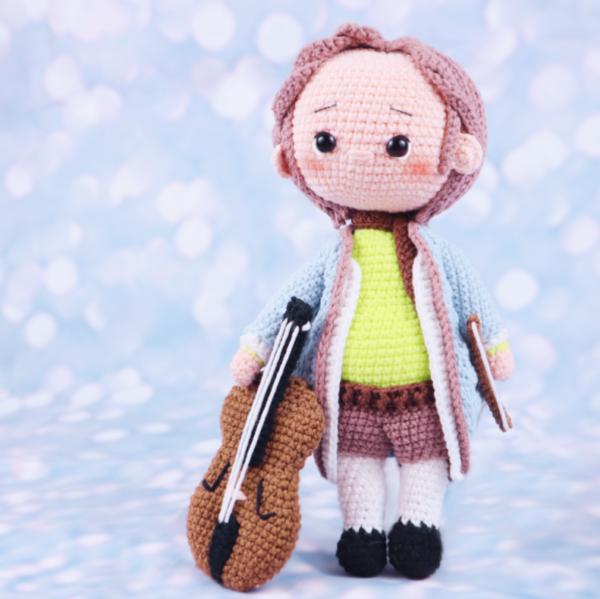 Free Amigurumi Crochet Doll Pattern Bach Musical Composer