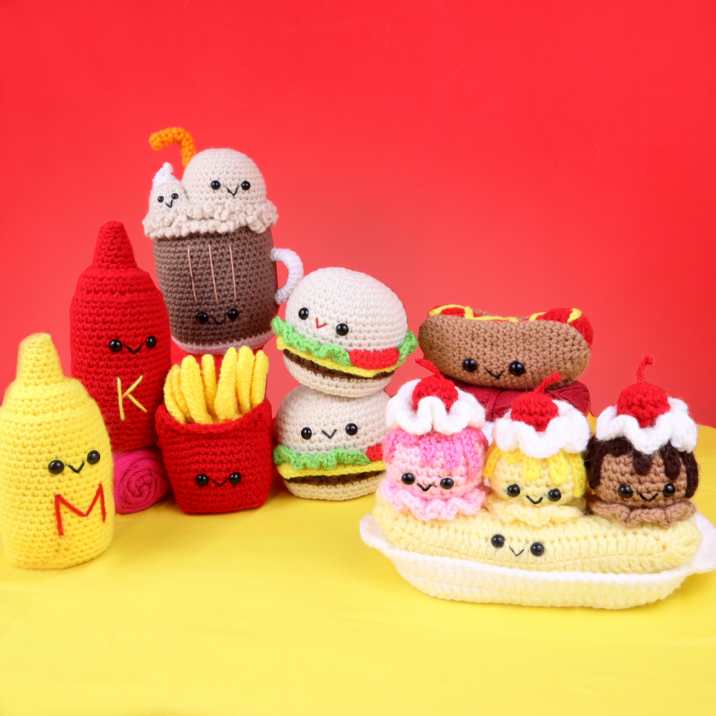 Free fast food amigurumi crochet pattern bundle