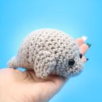 World's Cutest Manatee Amigurumi – Free PDF Crochet Pattern