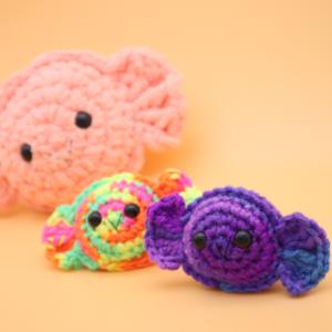 Free scrap candy no sew amigurumi crochet pattern