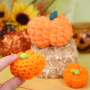 Free scrap pumpkins easy quick amigurumi crochet pattern