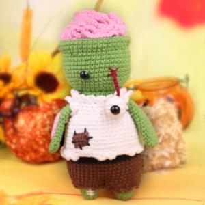 Free zombie amigurumi halloween crochet pattern