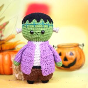 free frakenstein amigurumi crochet pattern halloween