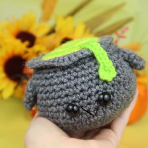 Free cauldron amigurumi crochet pattern halloween